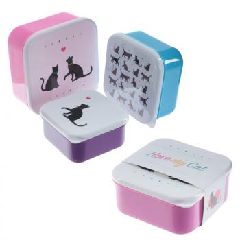 3 er Set Lunchboxen I love my Cat